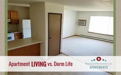 Apartment LIVING Vs. Dorm Life