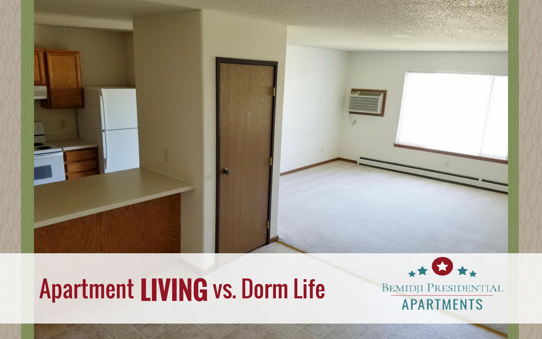 Apartment LIVING Vs. Dorm Life